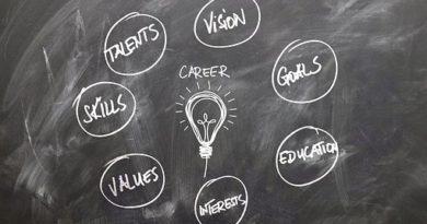 Pizarra donde aparecen los principales motivos del artículo: plan de carrera, talento, proyecto, visión.