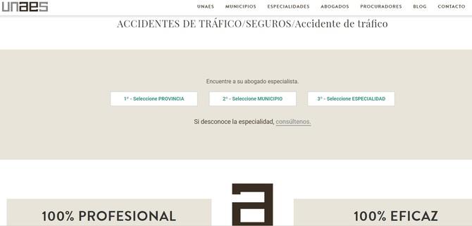 Cómo el usuario puede buscar un abogado especializado en accidentes de tráfico en un determinado territorio