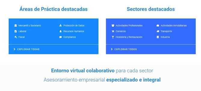 Áreas de práctica y sectores empresariales en Rosetta