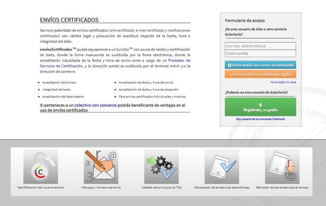 Coloriuris: características del producto Envíos Certificados