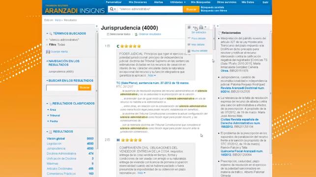 Aranzada Insignis_Búsqueda de jurisprudencia
