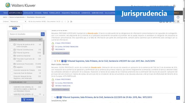 El Consultor Jurídico_Buscador de jurisprudencia