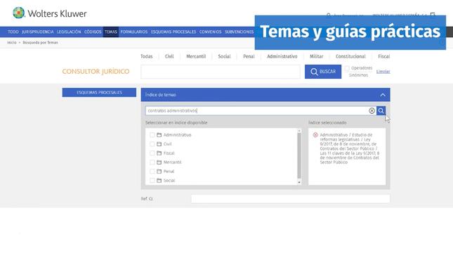 El Consultor Jurídico_Interfaz de Temas y Guías Prácticas