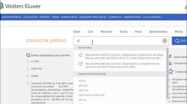 El Consultor Jurídico_Sugerencias de búsqueda