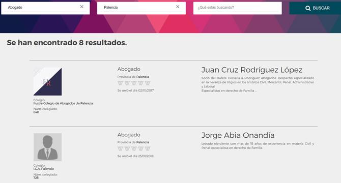 Resultados tras buscar abogados en Palencia