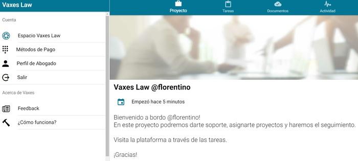 Espacio Vaxes Law para el abogado para la asiignación y seguimiento de proyectos legales