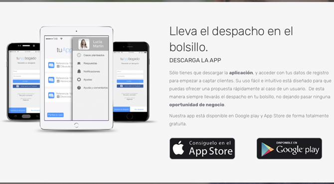 Lleva el despacho en tu bolsillo: descarga la App