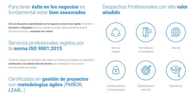 Características de los despachos miembros de Rosetta
