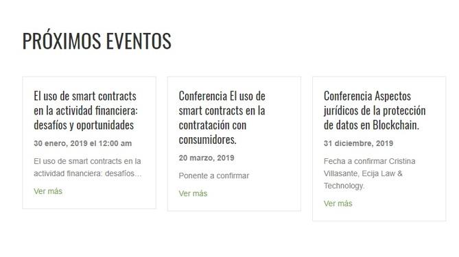 Próximos eventos del Blockchain Law Institute
