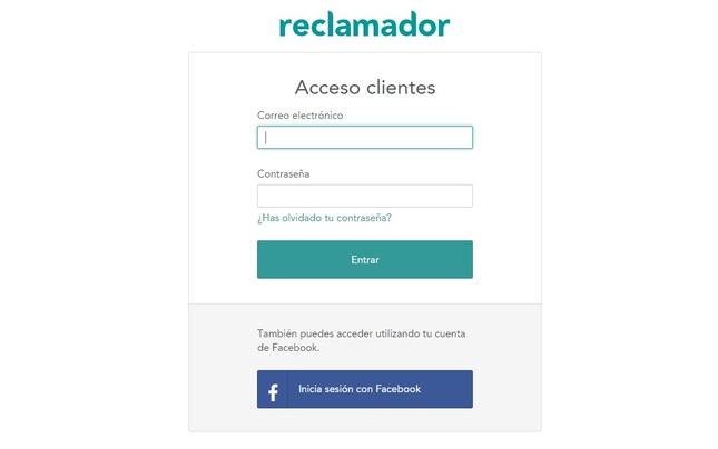 Acceso para los clientes en Reclamador.es
