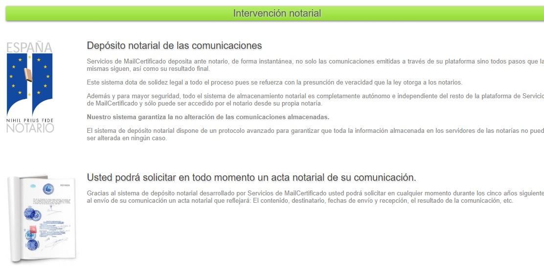 Depósito notarial de las comunicaciones y acta notarial