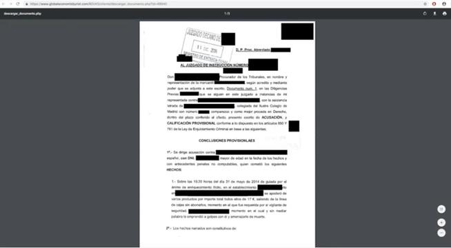 Documento descargado en Casos Reales con los datos sensibles 'anonimizados'