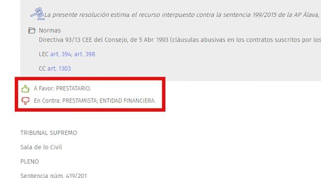 El Consultor Jurídico_Funcionalidad de jurisprudencia A Favor En Contra
