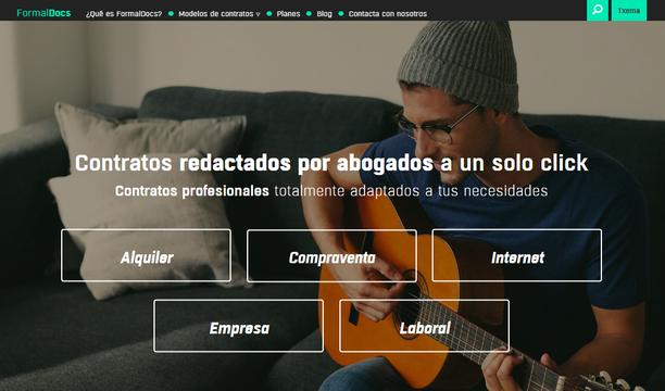 Formaldocs_Pantalla inicial de la web