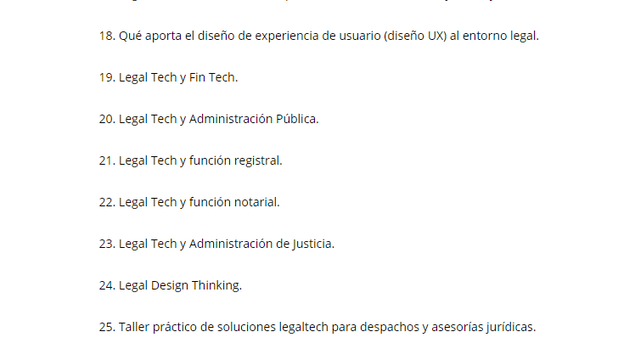 LegalTech y Transformación Digital_Plan de Estudios_Temas 18 a 25