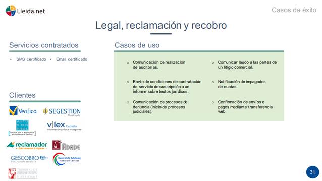 Lleida.net_Casos de éxito en Legal, Reclamación y Cobro