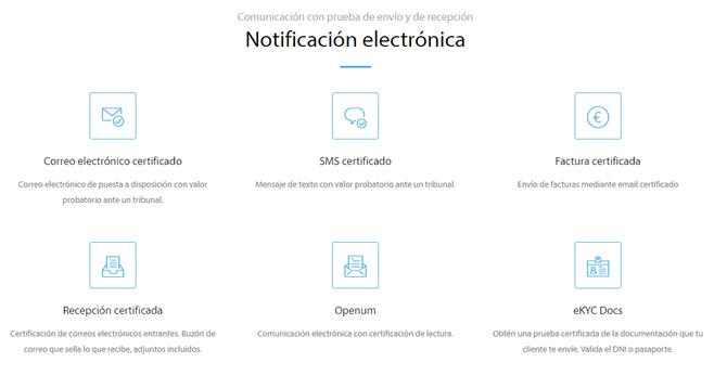 Lleida.net_Productos de Notificación Electrónica