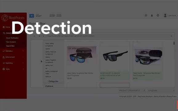 Funcionalidad 'Detection' en Brand Protection (imagen capturada en https://www.youtube.com/watch?v=Polqwhz1StI)