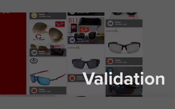 Funcionalidad 'Vañodation' en Brand Protection ((imagen capturada en https://www.youtube.com/watch?v=Polqwhz1StI))